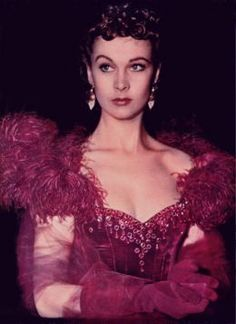 Scarlett O'Hara in the red dress