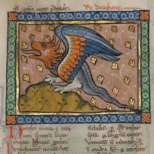 Resultado de imagen de dragon in medieval manuscripts