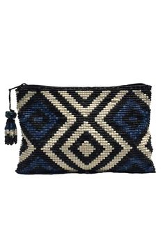 Santa Maria Ceramic Beaded Clutch by Alicia San Marcos. Made from handcrafted, hand-painted, and hand-strung ceramic beads. Crochet Clutch Bags, Beaded Clutch, Crochet Handbags, Beaded Bags, Crochet Purses, Tapestry Bag, Tapestry Crochet, Loom Patterns, Crochet Patterns