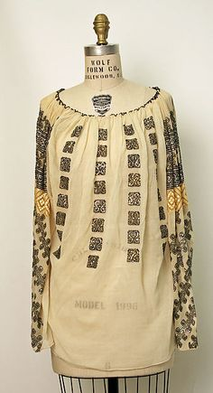 Romanian Blouse . . . Date: 1800–1941. . .  Culture: Romanian. . .  Medium: cotton. . .  Dimensions: [no dimensions available]. . .  Credit Line: Gift of Mrs. Van S. Merle-Smith, 1941