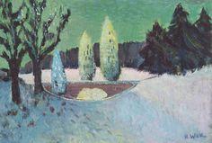 Werk von #Schwarzwald #Maler #Hermann Wiehl. Gemälde vom #Dix-Schüler und…