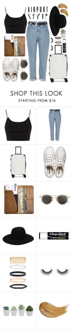 """""""W A N D E R L U S T"""" by ali-sxn ❤ liked on Polyvore featuring Alexander Wang, River Island, CalPak, Henri Bendel, CO, Issey Miyake, Off-White, Chapstick, Accessorize and Too Faced Cosmetics"""