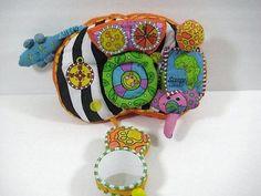 SASSY SAFARI Baby Dashboard CarSeat Plush Soft Toy Development B267