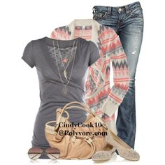 Love this look by cindycook10 on Polyvore featuring polyvore, fashion, style, Aé️️ropostale, True Religion, Oasis, Foley + Corinna and Linda Farrow