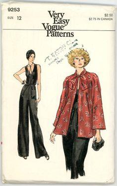 Vintage Vogue Pattern 9253  Misses Jacket by stillinvoguevintage, $8.00