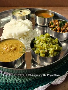 Lunch Menu - 2 / South Indian Thali #lunch #southindian #menu #thali #meal #daily