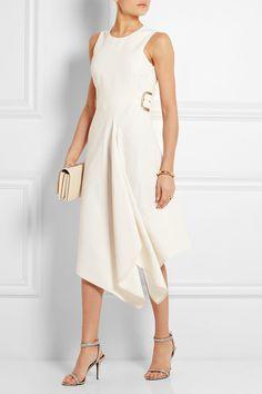 Stella McCartney|Lulu buckled slub twill midi dress|NET-A-PORTER.COM