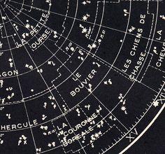 Star Chart Northern Sky Astronomy Print 1940s von CarambasVintage