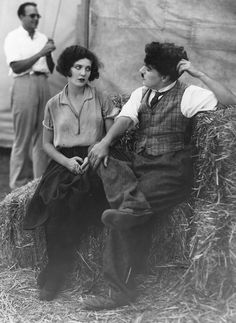 Charlie and Merna Kennedy on the set of The Circus c.1928  (This photo is a favourite of mine!)