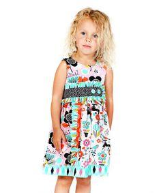 Loving this Aqua Printemps Sally Dress - Infant, Toddler & Girls on #zulily! #zulilyfinds