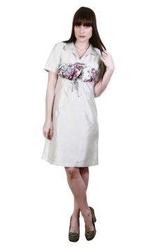 Dress by Doria Salambo. 100% silk, made in France