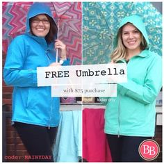 What's a girl to do on a rainy day?? Stay in and SHOP!!! Spend $75 or more at brandisboutiqueshop.co and receive a FREE Umbrella!!! Offer is available today only. >>>Place our Rainy Day Umbrella in your cart and use code: RAINYDAY at checkout to get it FREE!! #BBGirls #FreeUmbrella #BBDeals #shopandsave #rainydaydeal ☔️