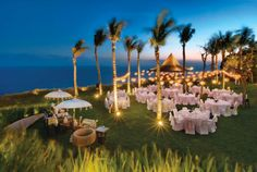A wedding set-up at the Khayangan Estate luxury villas in Uluwatu, Bali.