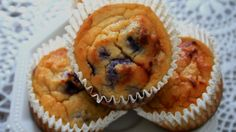 Sweeter Life Club shares a recipe for Blueberry Protein Cupcakes.