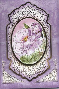 3D floral easel card