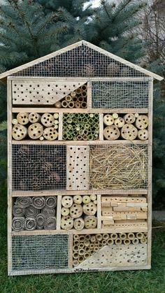 Domček pre divé včielky a užitočný hmyz do eko záhrad