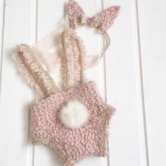 cod63Set pink powder bunny diper cover by 4LittlePrincessProps