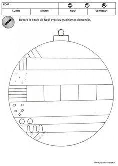 Décore les boules de noël – Graphisme – Maternelle – Petite section – Moyenne section – Cycle 1 – Pass Education