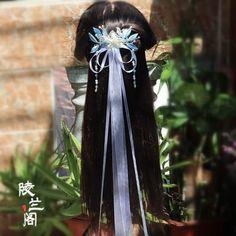 Ribbon Hairstyle, Chinese Clothing, Fantasy Jewelry, Hanfu, Hair Jewelry, Hair Inspiration, Hair Accessories, Dreadlocks, Costumes