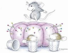 On Pins & Needles (House Mouse) - http://www.123stitch.com/item/Heaven-And-Earth-Designs-On-Pins-Needles-House-Mouse-Cross-Stitch-Pattern/10-1407