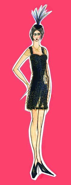 Caroline Mobley  - Fashion Illustrations