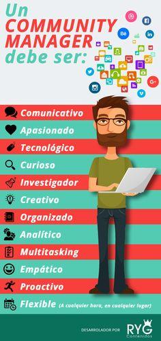 Un Community Manager es … #infografia #infographic #socialmedia