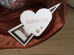 Romantische Namensschilder mit Magnet-Befestigung