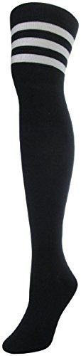 JAnn Womens Over Knee High Socks Size 911 Black 3 White Lines -- See this great product. (This is an affiliate link) Yoga Shoes, Knee High Socks, Program Design, Hosiery, Ann, Image Link, Advertising, Stockings, Pairs