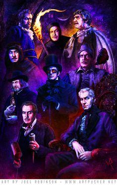 Vincent Price by Joel Robinson Horror Icons, Sci Fi Horror, Horror Art, Halloween Gif, Halloween Town, Scary Movies, Horror Movies, Hammer Horror Films, Tim Burton Art