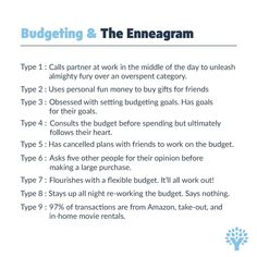 "You Need A Budget (YNAB) on Instagram: ""Obsessed with the Enneagram? Us, too. Add in budgeting and we've never felt so known. 😭😍✨ Any of these sound familiar to you?⠀ (I see you,…"" Type 7 Enneagram, Enneagram Personality Test, Personality Psychology, Mbti, Infj, Introvert, Type 4, Budgeting, Personality Types"