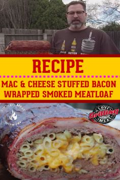 Sit back and pay attention as Jef Spencer walks you through this mac and cheese stuffed bacon wrapped smoked meatloaf recipe video. Bbq Roast Beef, Cooking Roast Beef, Roast Beef Recipes, Smoker Recipes, Smoker Cooking, Rib Recipes, Sausage Recipes, Bacon Wrapped Smoked Meatloaf Recipe, Amigurumi