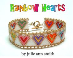 Crafting with M.E: August 2014 Peyote Beading, Beaded Bracelet Patterns, Seed Bead Bracelets, Heart Bracelet, Beadwork, Peyote Stitch Patterns, Loom Patterns, Beading Patterns, Bracelet Patterns