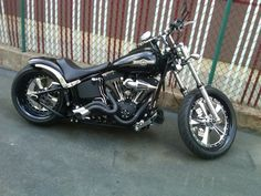 Wicket bike, really cool. Love the pipes... the black and chrome tips.