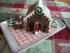 peppermint candy trays pinterest | ... candy around the holidays i made this candy cottage using candy melts