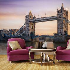 Morning in London x Wallpaper East Urban Home Print Store, 3d Wallpaper, Tower Bridge, Long Island, London, Luxury, Poster, Mille, 2d