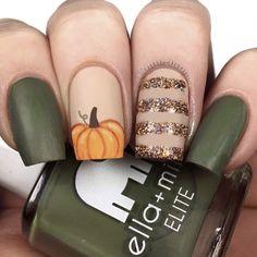 Halloween Nail Designs, Fall Nail Designs, Halloween Nails, Halloween Nail Colors, Gel Polish Designs, Shellac Nail Designs, Orange Nail Designs, Long Nail Designs, Halloween Makeup