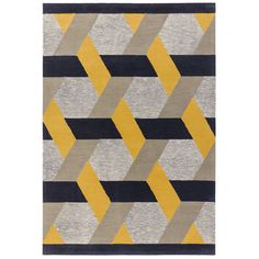 Camden Geometric Rug, Gold | Wool Rugs - Barker & Stonehouse