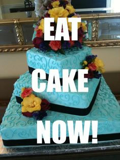 From the mouth of Blue Cake Ruth of Teatime Delicacies, Inc.  It's all about the #wedding #cake. www.teatimeinc.com
