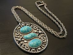 Whiting Davis Vintage Silver and Turquoise by DartmouthHill