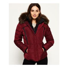 Superdry Glacier Biker Jacket ($150) ❤ liked on Polyvore featuring outerwear, jackets, purple, quilted jacket, purple biker jacket, superdry jacket, motorcycle jackets and hooded motorcycle jacket