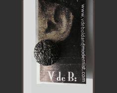 Dark Side of the Moon,Brut Modernist Earrings,Zentall,1960s-$78.00