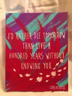 8 by 10 Quote on Canvas Pocahontas by CreationsbyLyndsay on Etsy, $12.00