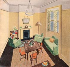 Living / Dining Room - c. 1930s