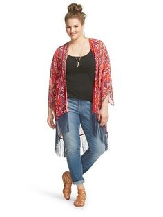 Plus Size Kimono w/Fringe
