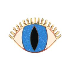 Image of Magic Eye Brooch - Blue