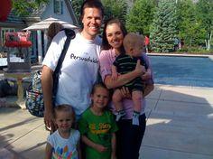 Scott Osmond (Alans), wife Annie, and kids.