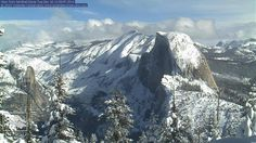 Dec. 16, 2014 via ABC Action News ~ Half Dome covered in fresh snow from last night's storm. That is one beautiful sight!