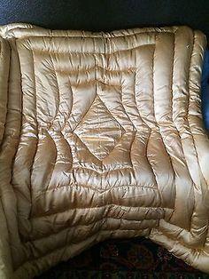 Vintage Satin Bedspread Comforter Throw Aqua Pink