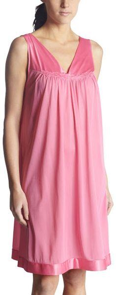 02c35b0976 Vanity Fair Womens Coloratura Sleepwear Short Gown 30107 Perfumed Rose  XLarge    Click image to