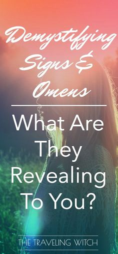 Demystifying Signs & Omens: What Are They Revealing To You? // Magick // Witchcraft // The Traveling Witch Psychic Development, Spiritual Development, Eclectic Witch, Kitchen Witch, Spirit Guides, Book Of Shadows, Magick, Wiccan Spells, Magic Spells